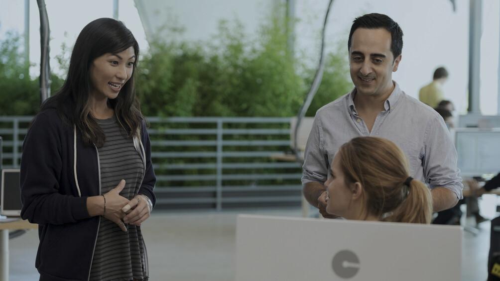 Link zum Arbeitsblatt Szenenanalyse als Gruppenarbeit: Gespräch mit Gina und Matt